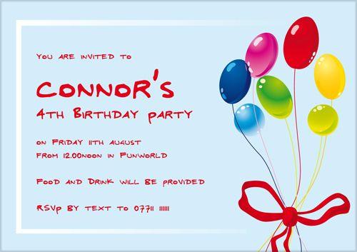 Kids Birthday Invitations Ideas For Evan