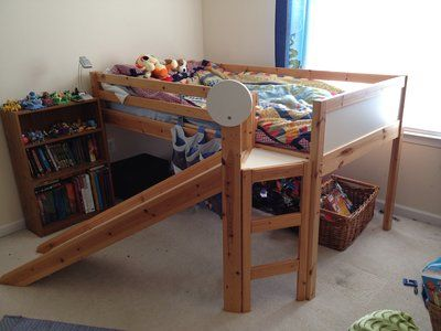 Ikea Loft Bed With Slide My Kids Would Love This
