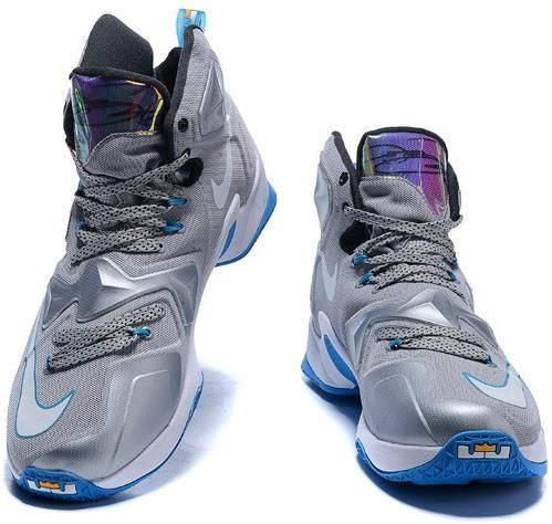 Lebron 13 Shoes Grey Black Blue White1. Lebron 13 Shoes Grey Black Blue  White1 White Nikes adeea7f4a4
