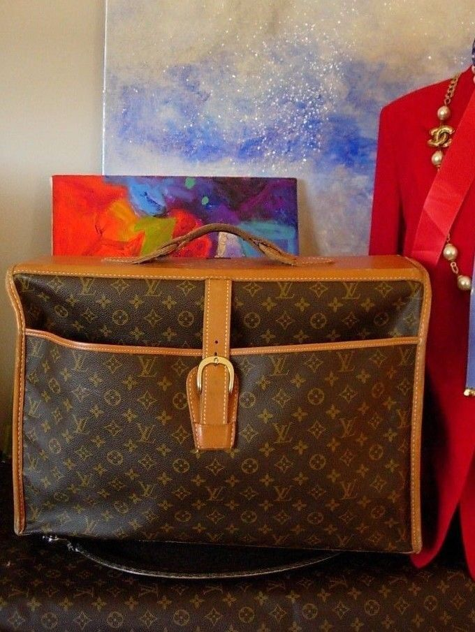 Rare Vintage Louis Vuitton Saks Fifth Ave Garment Bag Luggage Keepall Suitcase Pinterest Bags And