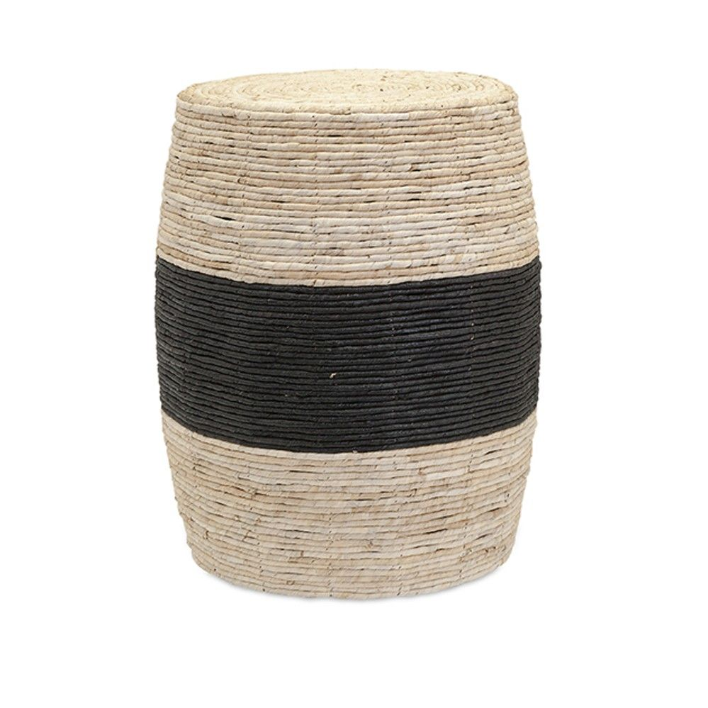 Classic and Lovely Multi Dorran Woven Ottoman Home Accent Decor Imax 67212 | Furniture, home decor, wall decor, rugs, lamps, lighting outlet.