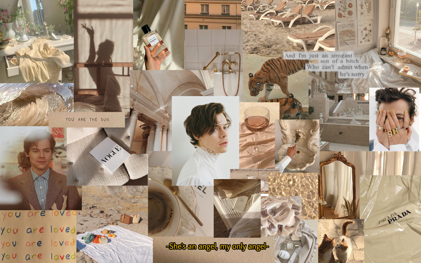 Beige Harry Styles M In 2020 Cute Laptop Wallpaper Aesthetic Desktop Wallpaper Macbook Air Wallpaper