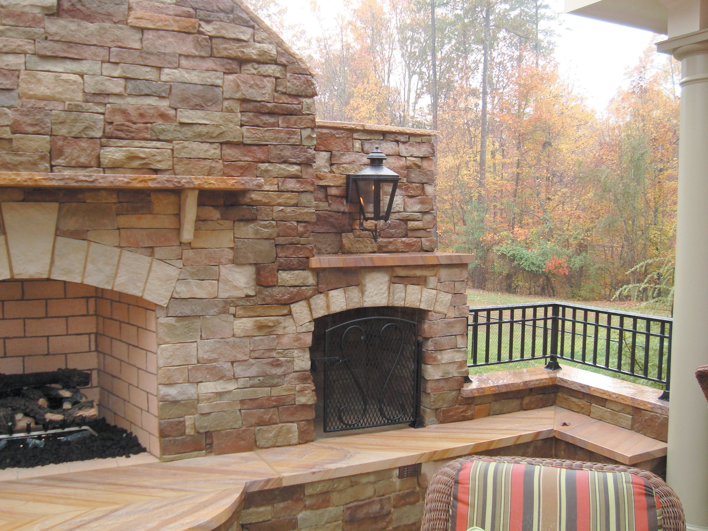 Oh Yes Outdoor Fireplace Stacked Stone Fireplaces Outdoor Fireplace Designs