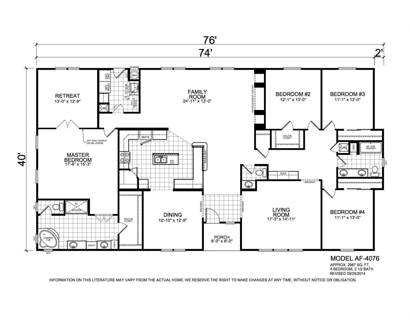 Champion Arizona 4 Bedroom Manufactured Home Dogwood For 169855 Model Af4 Manufactured Homes Floor Plans Mobile Home Floor Plans Modular Home Floor Plans
