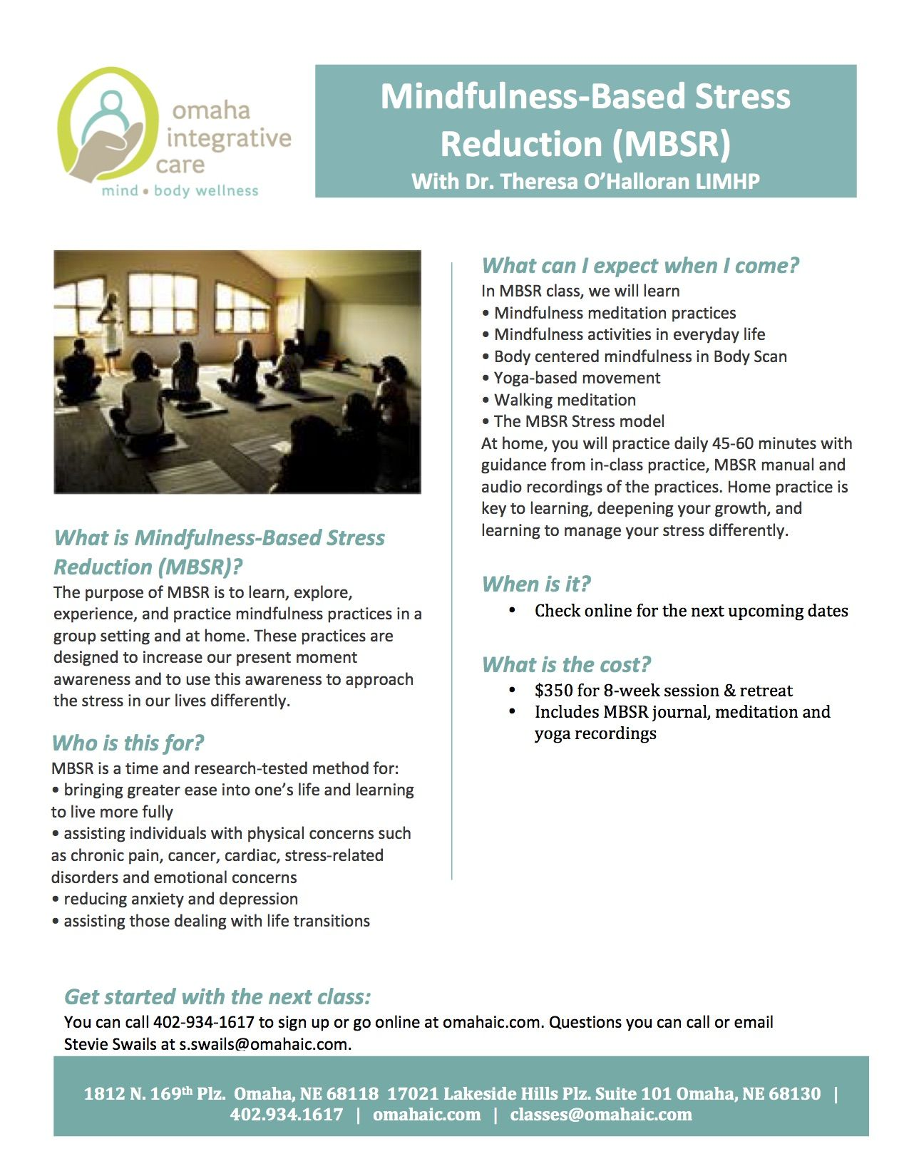 Mindfulness Based Stress Reduction Mbsr At Oic