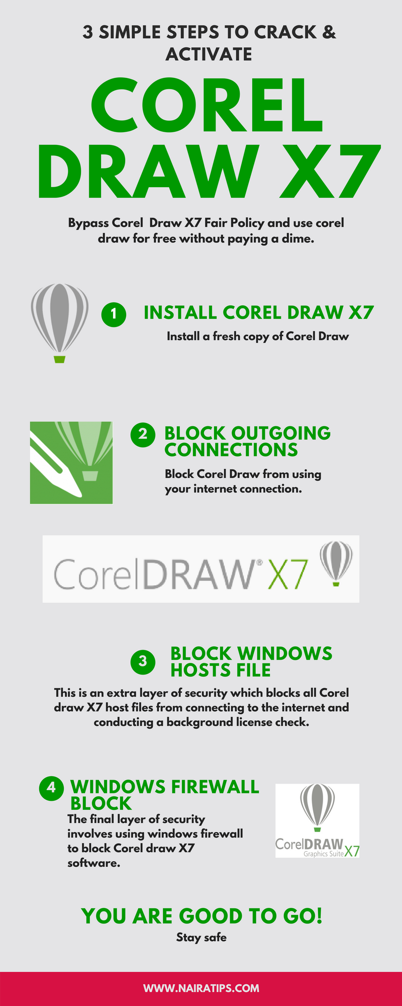 How to Crack & Activate Corel Draw X7 for life (2019 Guide