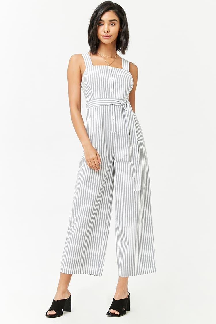 d556cc6fe89 Striped Button-Front Jumpsuit    29.90 USD    Forever 21