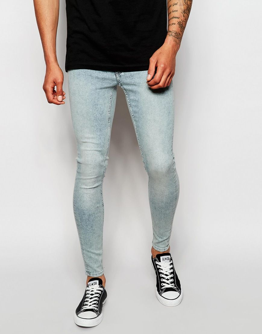 be0a0f32c Cheap Monday Jeans Low Spray Extreme Super Skinny Fit Super Light Blue