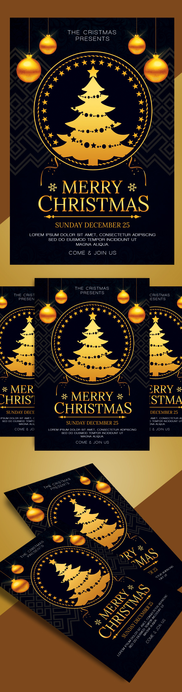 Christmas Flyer PSD template. Deatil : PSD files Full Layered Size ...