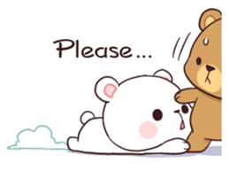 Bear Couple : Milk & Mocha sticker #12265822