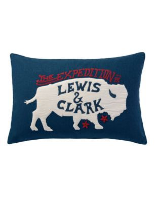 LEWIS AND CLARK PILLOW