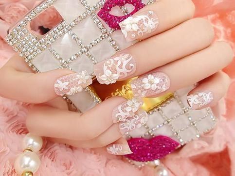 Nude pink elegant kawaii cute prom bridal 3d faux nails glue on fake nude pink elegant kawaii cute prom bridal 3d faux nails glue on fake nails solutioingenieria Gallery