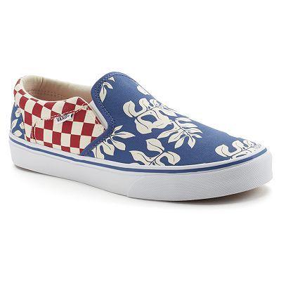 f3111ce9e2 Vans Asher Aloha Men s Checkered Slip-On Skate Shoes