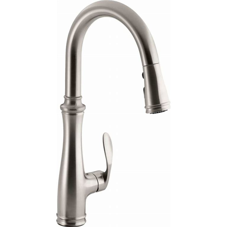 Long Neck Reach Kitchen Sink Faucet Brushed Nickel High Arc Bing Shopping In 2020 Kitchen Faucet Kohler Kitchen Faucet Faucet