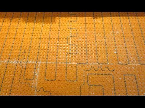 Ditra Heat Electric Floor Heat How To Install It Start To Finish Shower Pan Installation Flooring Custom Tile Shower