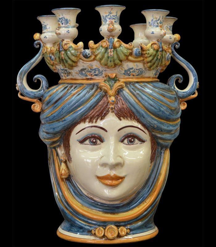 Risultati immagini per teste di moro siciliane ceramic heads and faces pinterest sicily - Giardini di bacco caltagirone ...