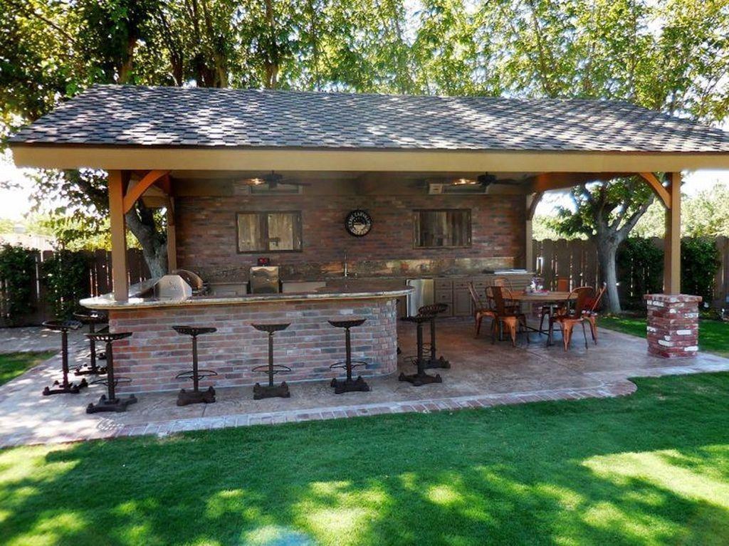 36 The Best Outdoor Kitchen Design Ideas Popy Home Backyard Patio Designs Outdoor Kitchen Patio Backyard Patio