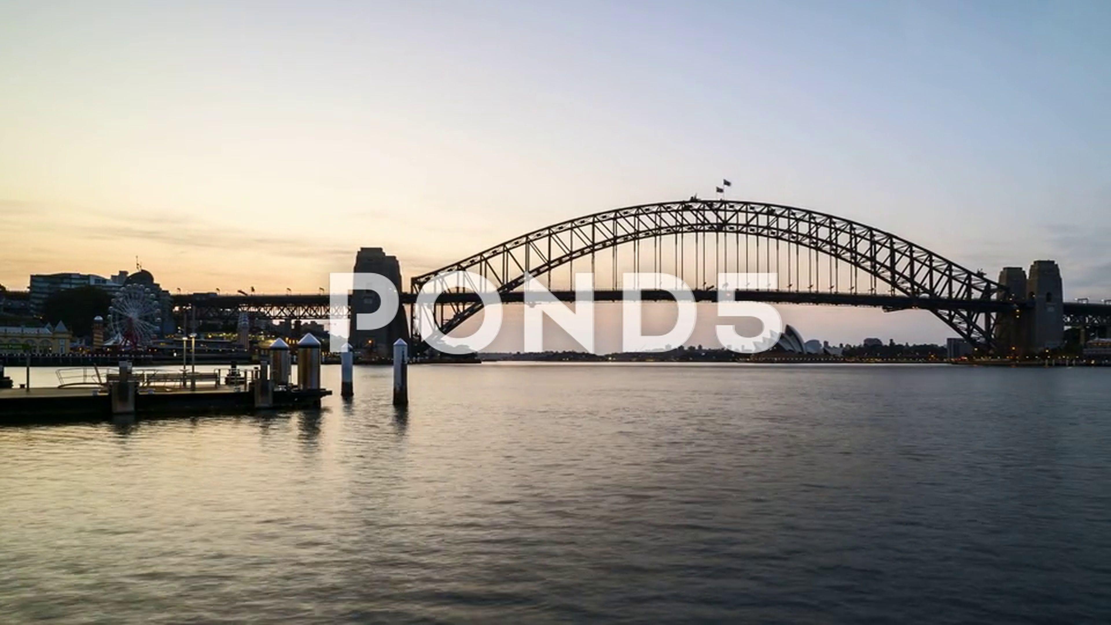 Time lapse of night to day sunrise scene at Sydney city skyline daysunrisenightTime