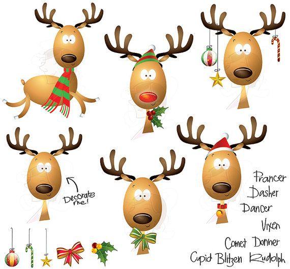 christmas reindeer clipart school teacher supplies scrapbook rh pinterest com Reindeer Clip Art with Lights Flying Reindeer Clip Art