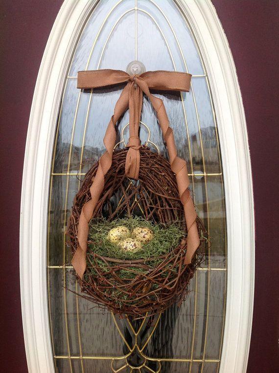 Spring Wreath Summer Wreath Grapevine Door by AnExtraordinaryGift,