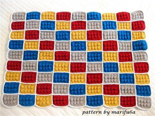 how to crochet lego blanket free pattern tutorial haga ganchillo lego - Media - Crochet Me
