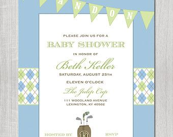 Golf Themed Baby Shower Ideas | Golf Themed Baby Shower Invitation - DIGITAL FILE ...