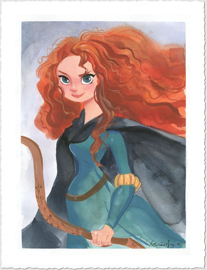 Merida by victoria ying i l l u s t r a t i o n - Peinture princesse disney ...