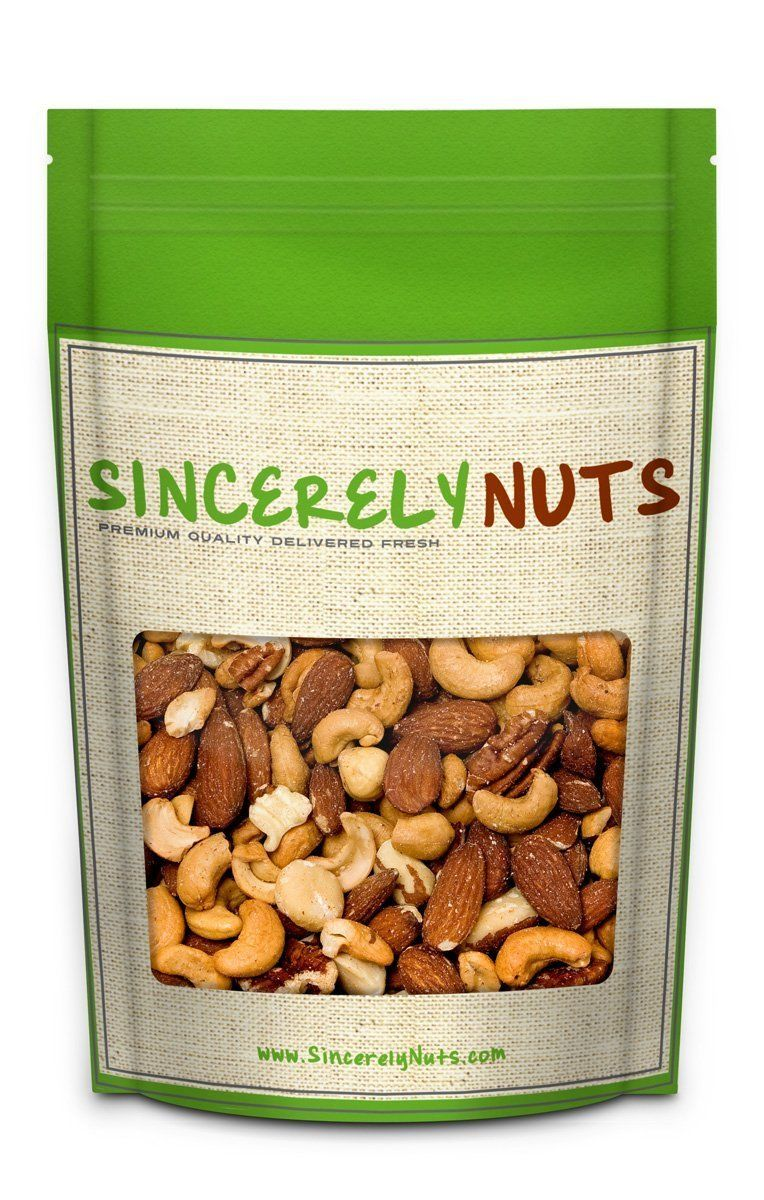 Sincerely Nuts Mixed Nuts Unsalted No Shell Two 2 Lb Bag Almonds Cashews Brazil Nuts Pecans Filberts Walnuts Macadamia Nuts Comida Supermercado