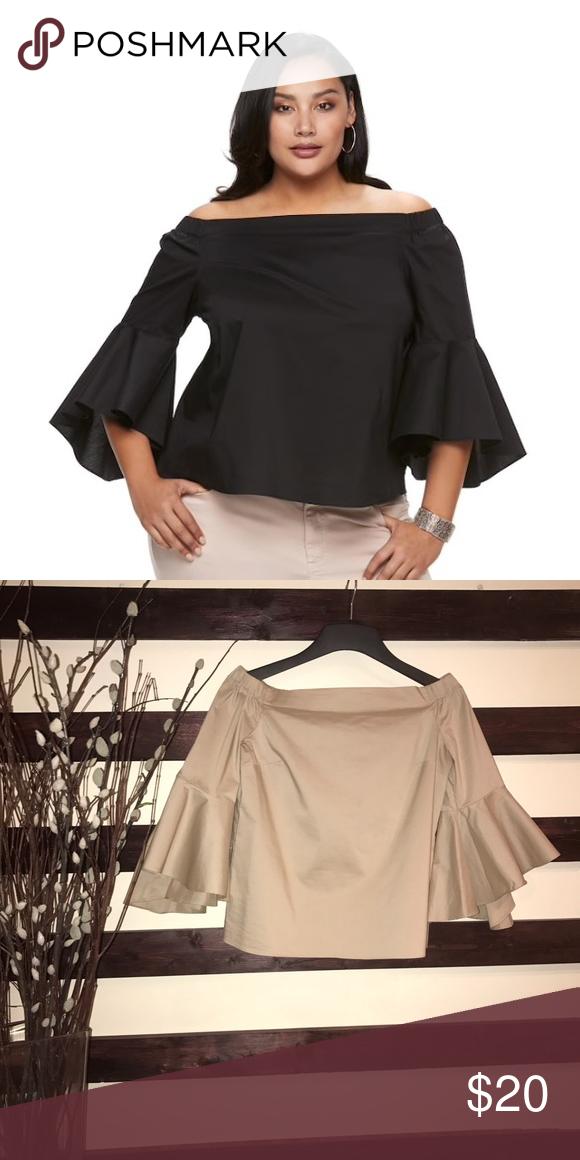 53217a00483 Jennifer Lopez Solid off the shoulder bell sleeves Bell sleeves like new Jennifer  Lopez Tops Blouses