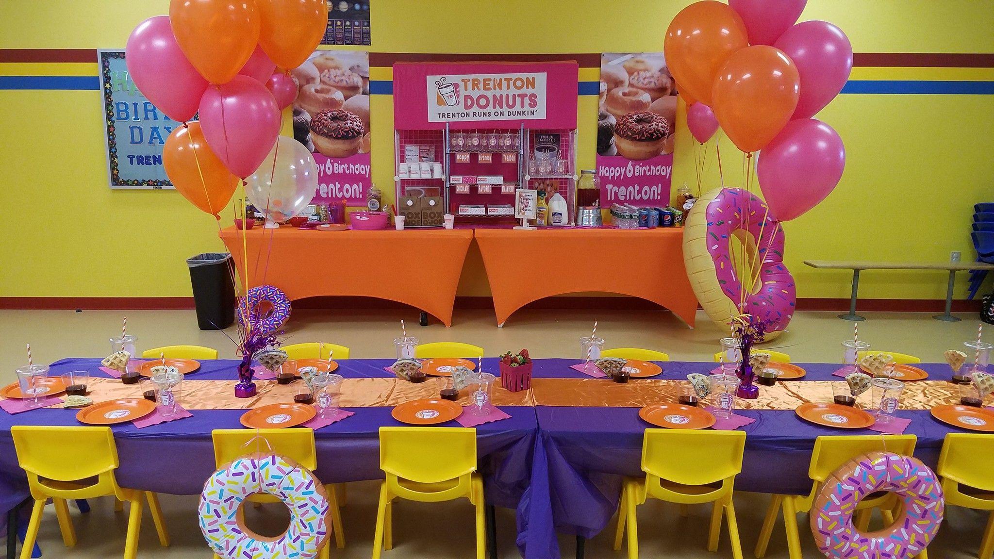 Donut party set up 6th birthday donut birthday parties