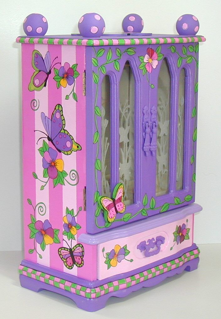 Image detail for Hand painted jewelry armoire custom made for a