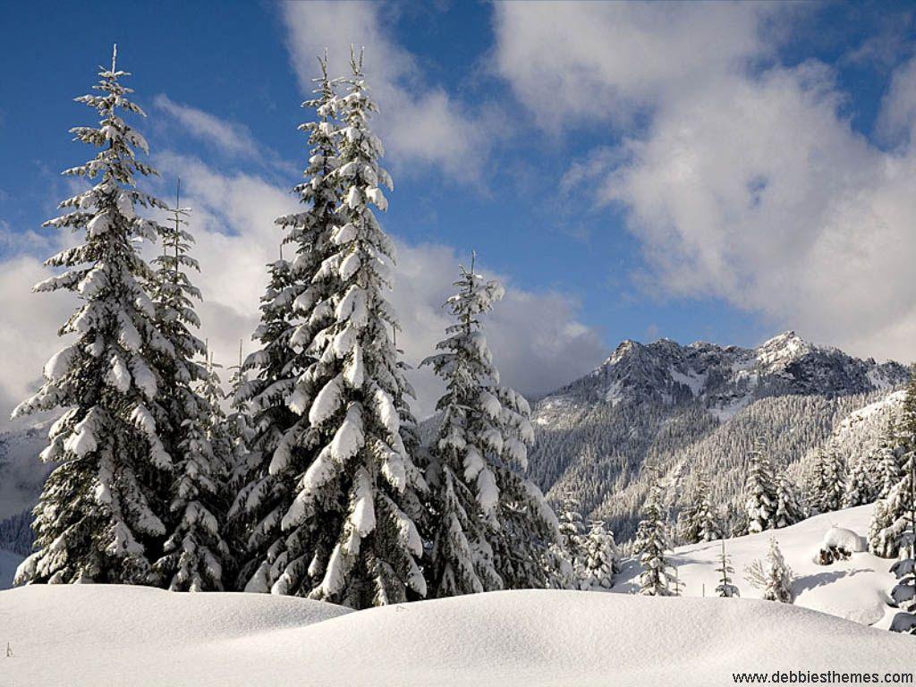 Christmas Winter Landscape Mountains Wallpaper Snowy Mountains Wallpaper