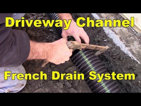How to Install a Channel Drain - YouTube