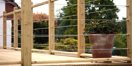 Cable Deck Railing | Deck Railing Wire Balustrade Cables, Stainless Steel,  Flat Surface .