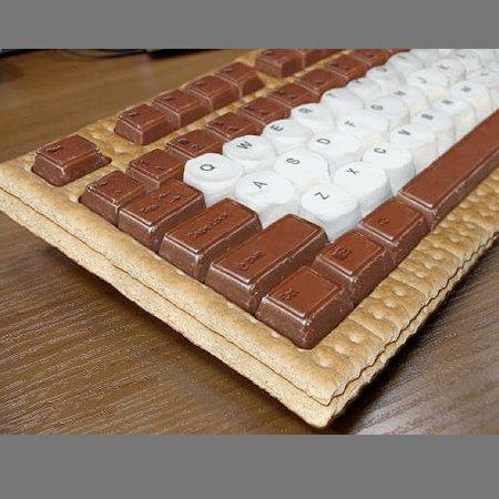 Smore Gas Board Teehehehehe Chocolate Keyboard Food Shapes Food