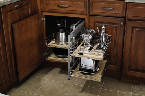 Lowes Cabinet Storage Solutions: Organization Cabinets > Base Corner Pull