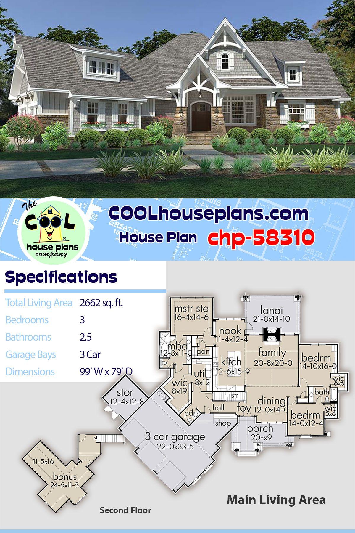 Farmhouse Style House Plan 75149 With 3 Bed 3 Bath 3 Car Garage Craftsman House Plans Best House Plans Farmhouse Style House Plans
