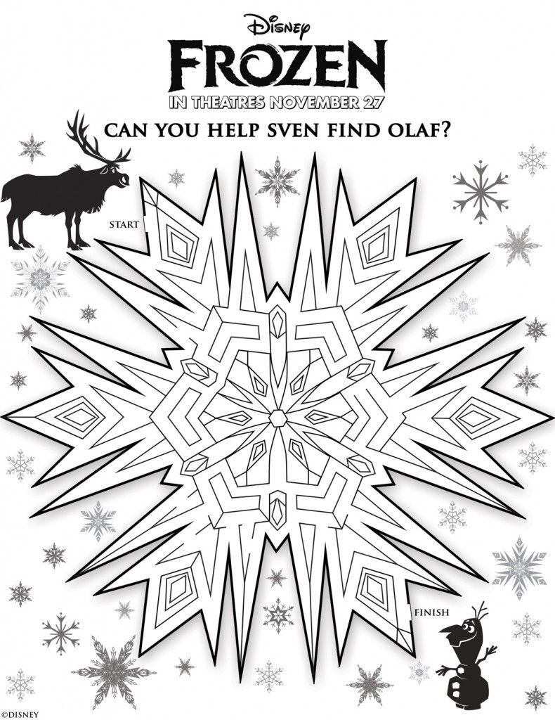 Disney\'s Frozen: Free Printables For Kids | Páginas para colorear ...