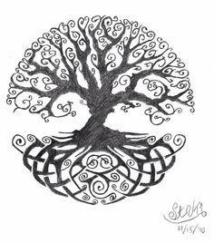 pin by barbara mousted on tree of life tatouage tatouage arbre de vie tatouage celtique. Black Bedroom Furniture Sets. Home Design Ideas