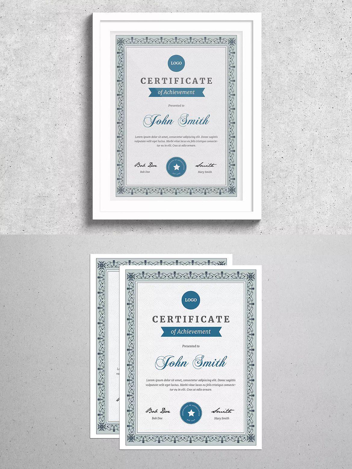 Vintage Certificate Template Ai Psd Certificate Templates