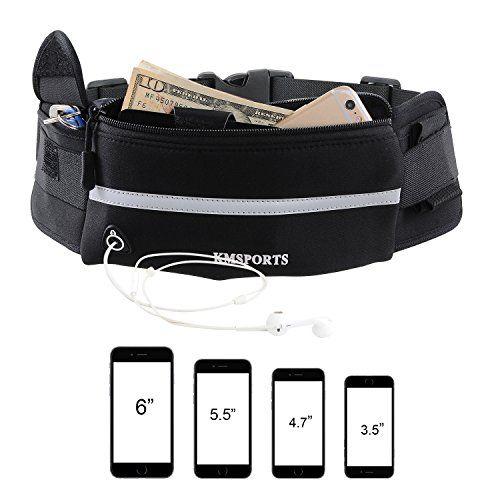 e5db67c72e25 Running Belt Sport Belt KMSPORTS Running Waist Pack Pouch Bag Fanny ...