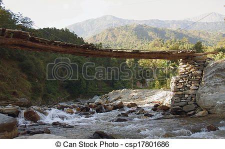 Mountain Bridge Wooden Google Search Mountain River Wooden Bridge Mountains