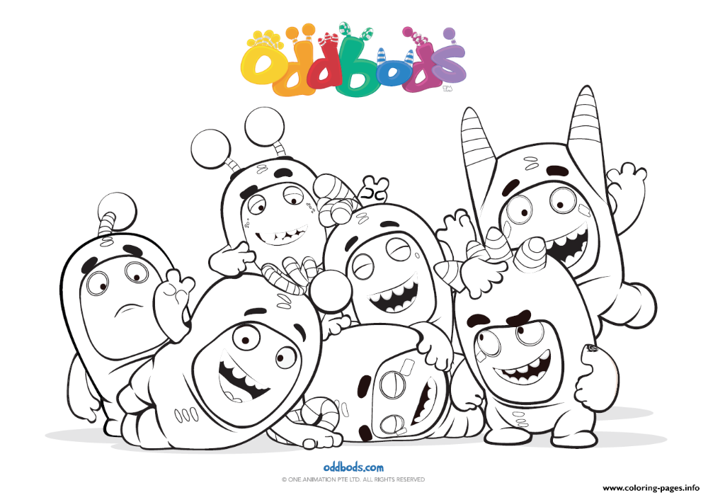 Print Oddbods Fun Time Kids Coloring Pages Kids Coloring Books Coloring Books Coloring For Kids