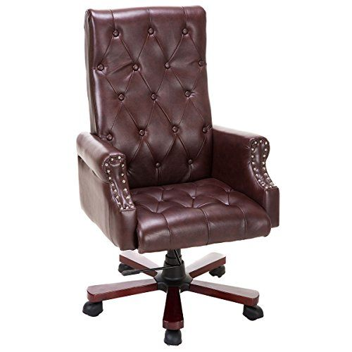 Giantex High Back Deluxe Guest Office Pu Leather Accent