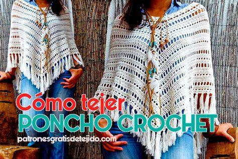 Cómo tejer poncho crochet paso paso | tejido | Pinterest | Cómo ...
