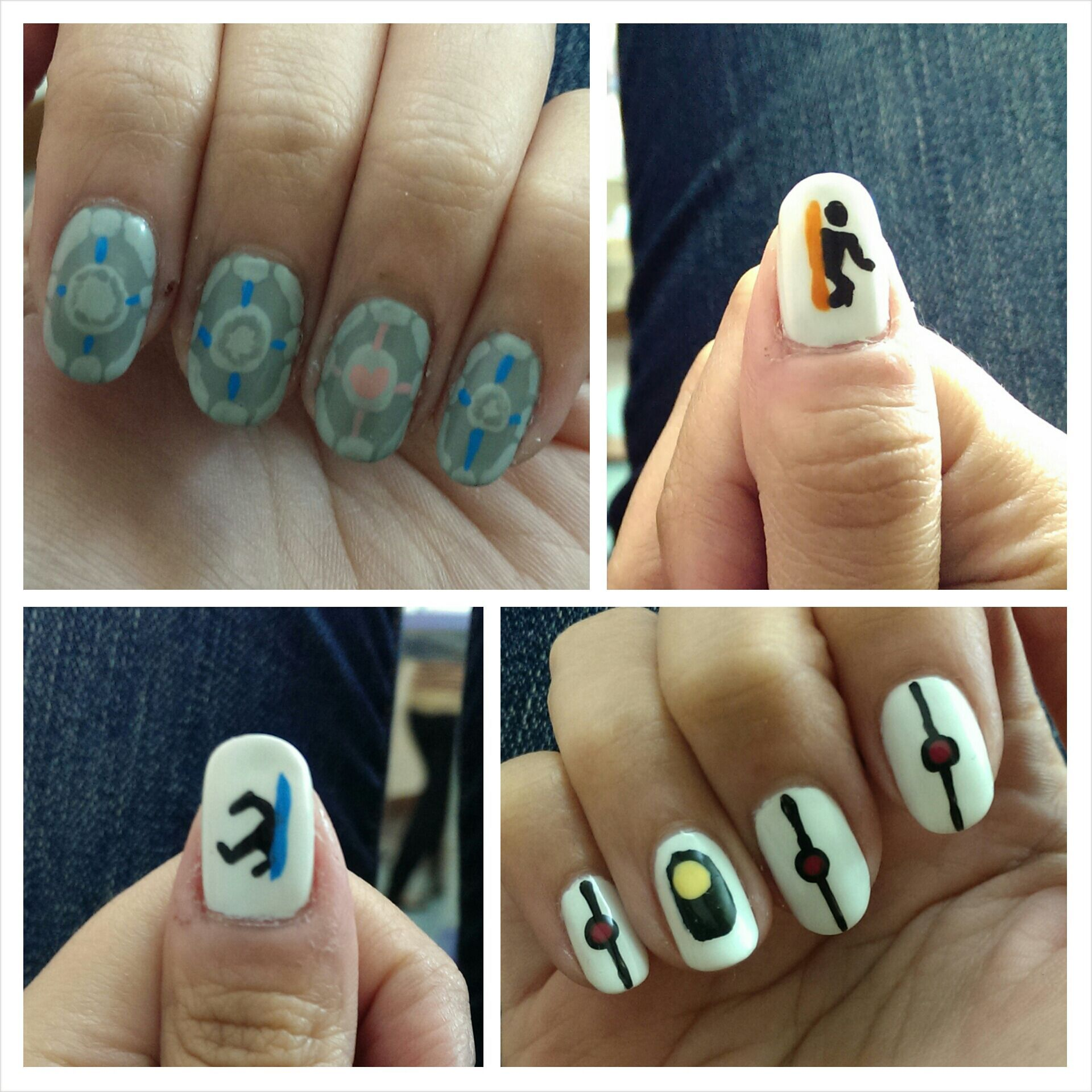 Reddit user kewpuss had the coolest nerdy nails today