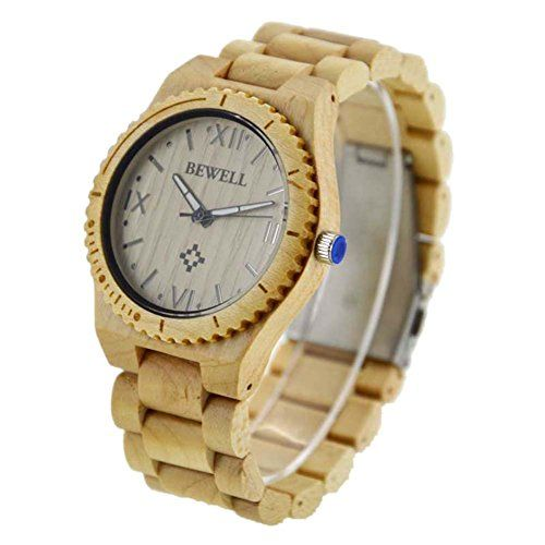 Greatwell Handmade Wooden Quartz Watch Made with Natural Sandalwood in Maple. Wood material, not only a watch on your wrist, but also a feeling of contact with nature. Imported Japan quartz movement, guarantees precise and punctual timing. Folding clasp with safety, easy to wear and not easy to fall off. Long lifetime, the lifetime of the battery can be up to 36 months. In addition to the exquisite gift boxes, we also give you a watchband link pin. You can adjust according to the wrist…