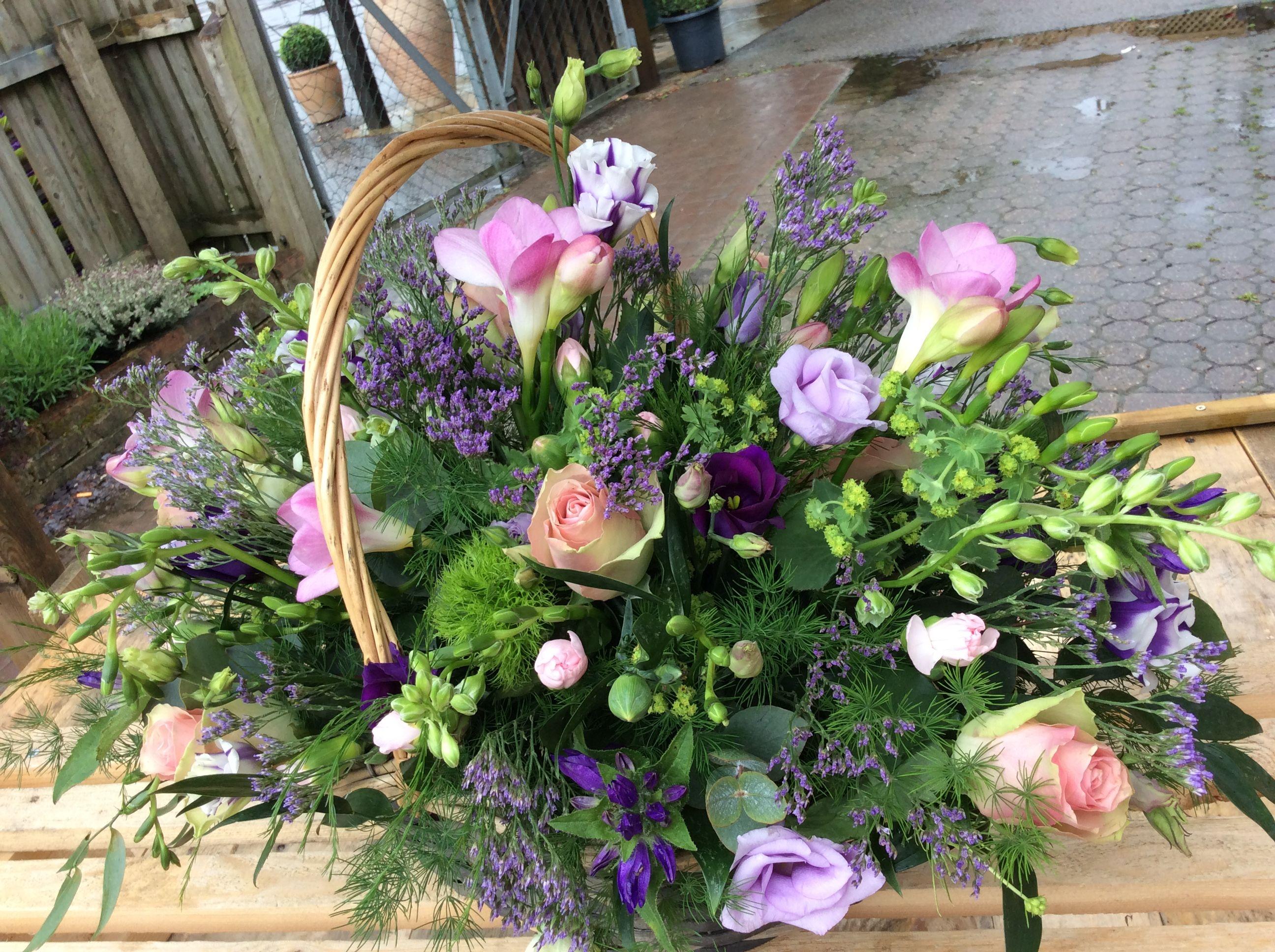Cut From The Garden Style Basket Arrangement