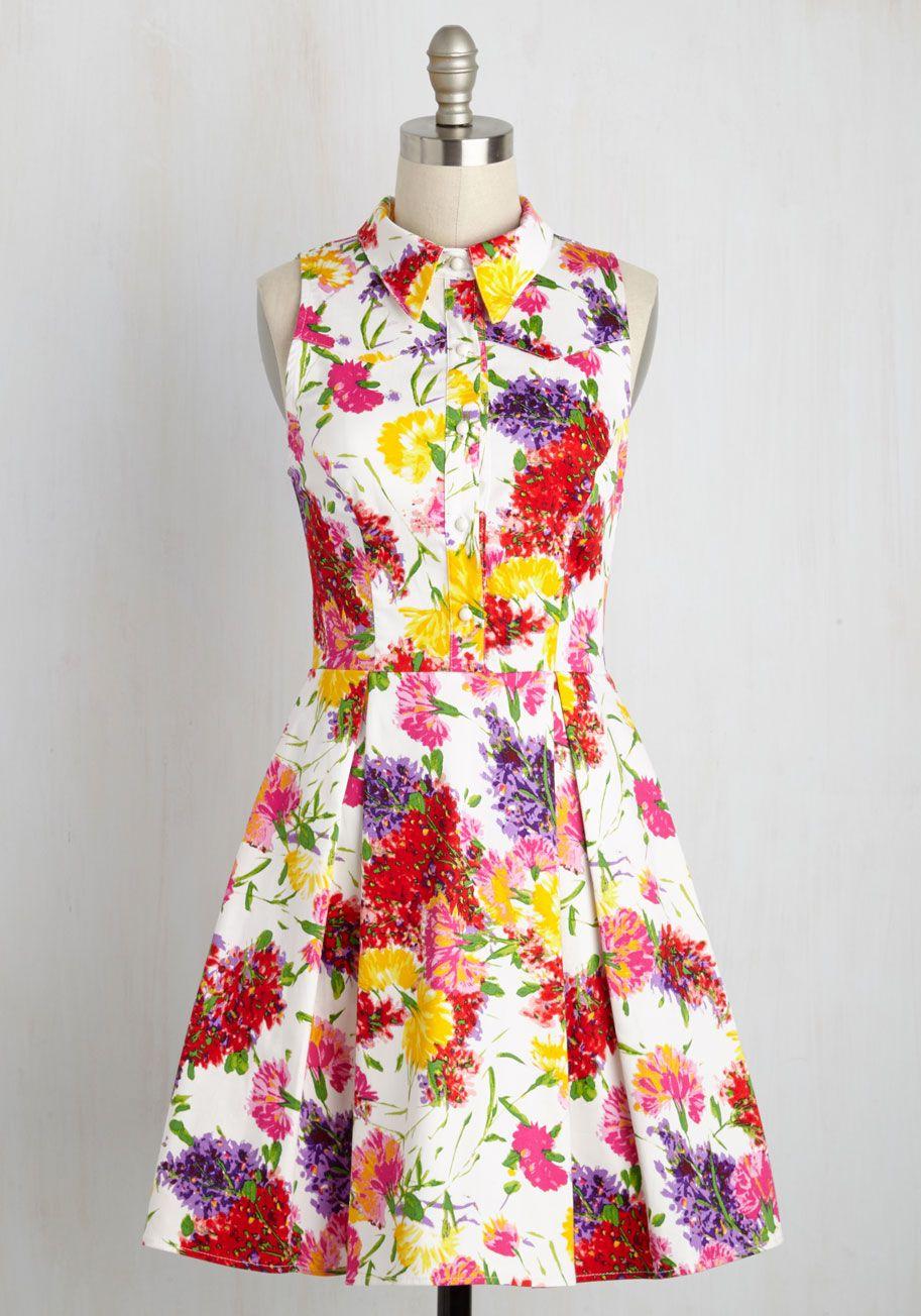 Cute Work Clothes For Women Modcloth Vintage Dresses Floral Dress Outfit Summer Retro Vintage Dresses [ 1304 x 913 Pixel ]