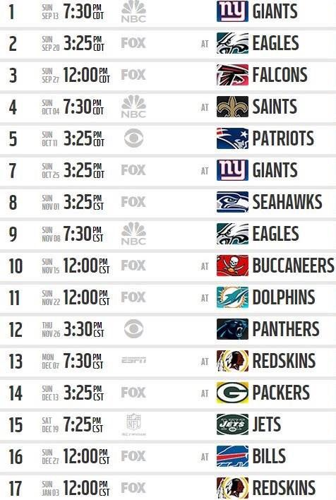 Nfl Calendario.Dallas Cowboys 2015 Schedule Nfl